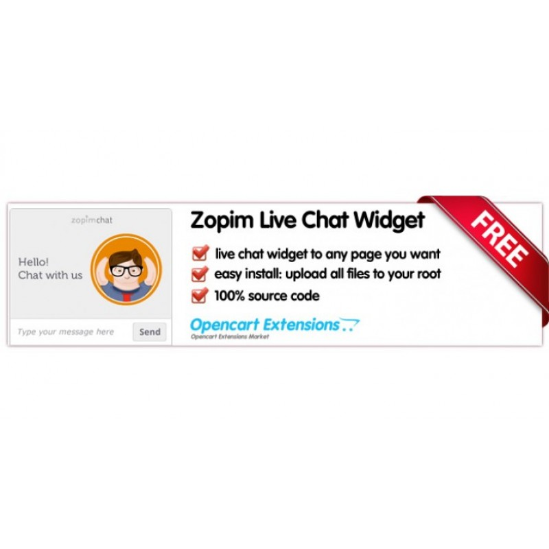 Zopim / tawk.to Live Chat Widget - OpenCart 2.X / 3.X