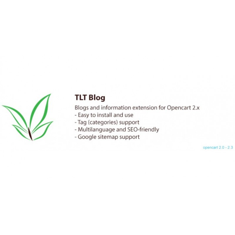 TLT Blog: Blogs and Information Extension for Opencart