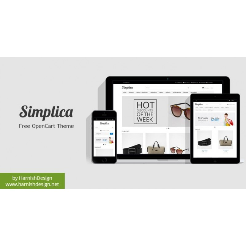 Simplica - Free OpenCart Theme