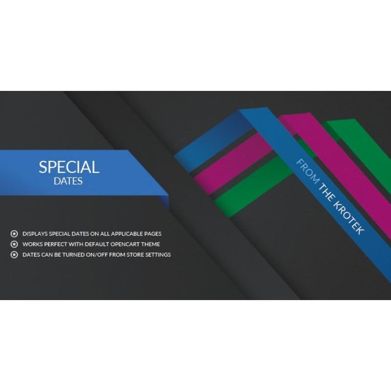 Special Dates