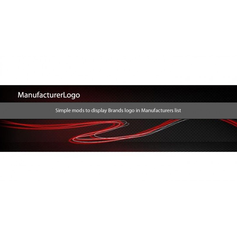 Show Brands logo on Manufacturers list