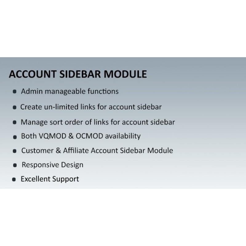 Account Sidebar