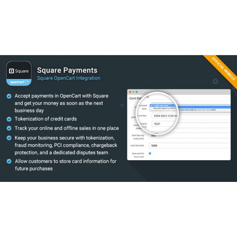 Square Payments - OpenCart Integration