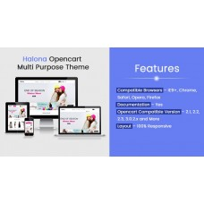 Halona Opencart Multi Purpose Opencart Responsive Theme, foto - 1