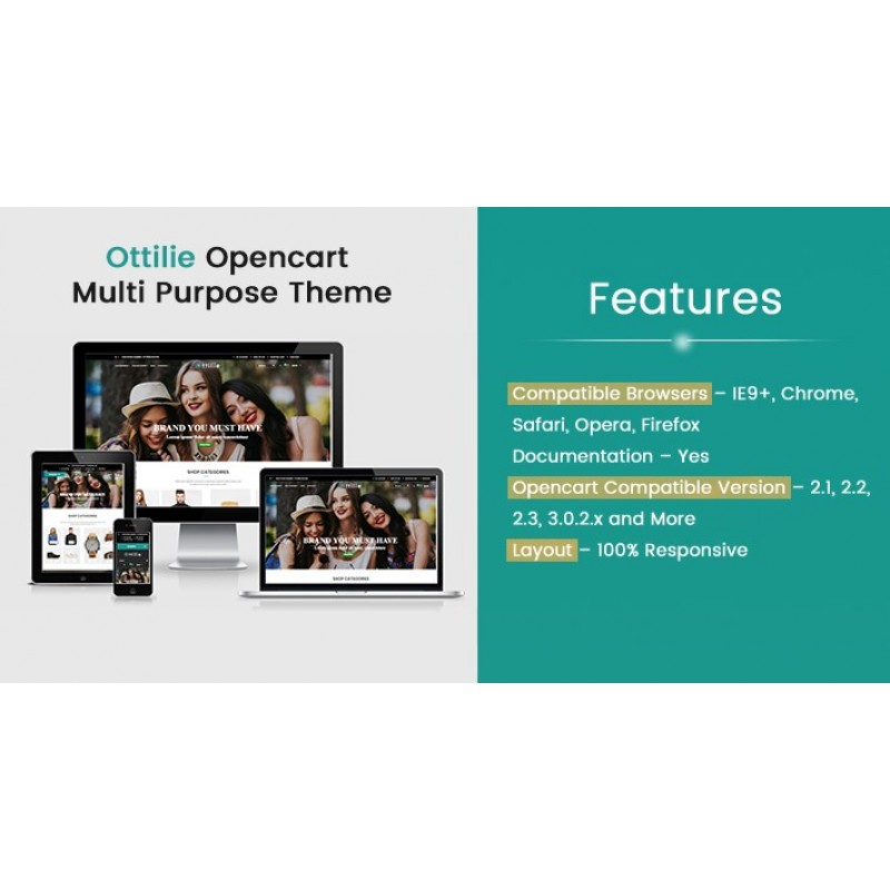 Ottilie Opencart Multi Purpose Opencart Responsive Theme