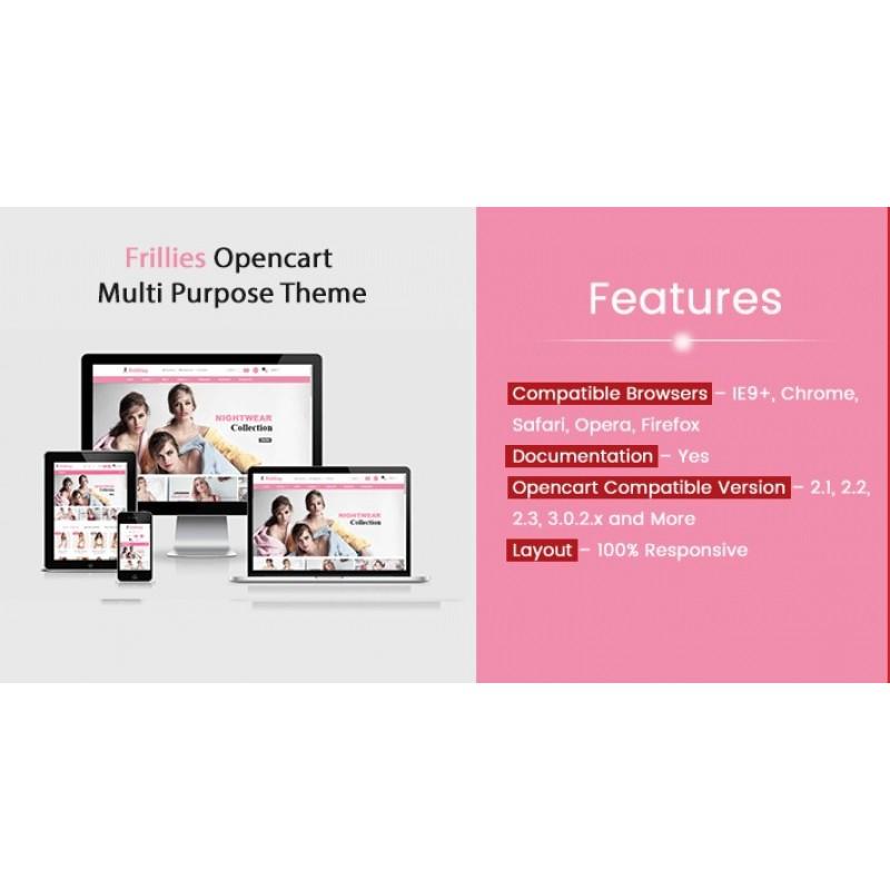 Frillies Opencart Multi Purpose Opencart Responsive Theme