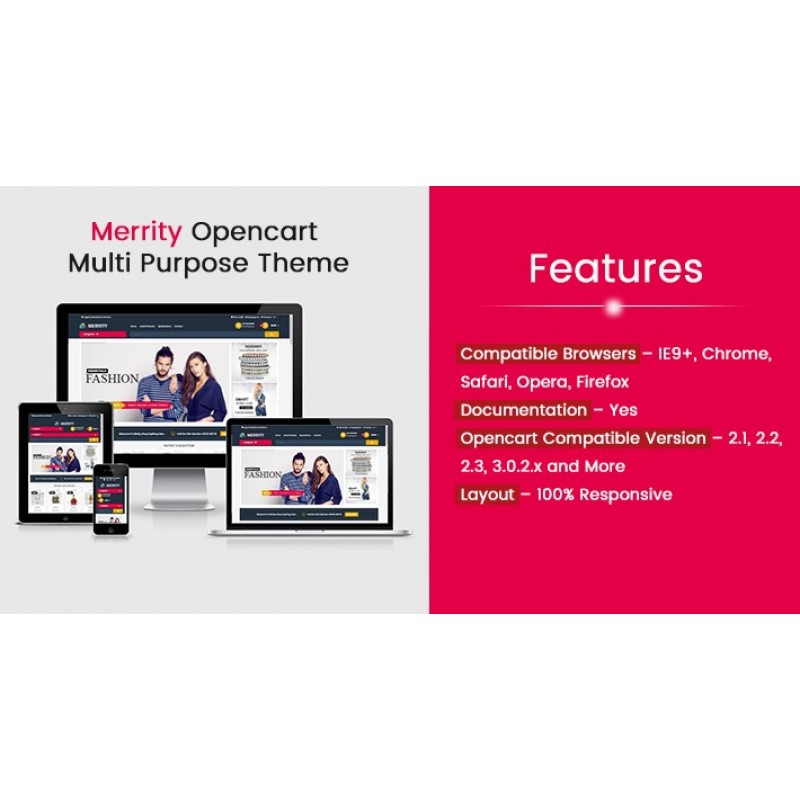 Merrity Multi Purpose Opencart Responsive Theme
