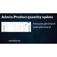 Admin Product quantity update, foto - 1