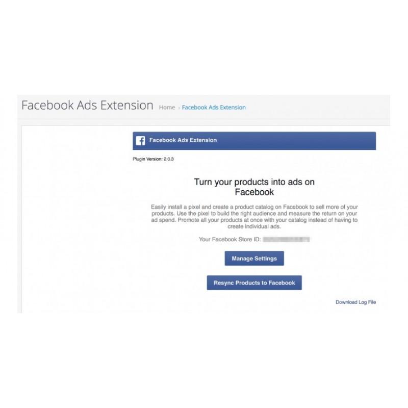 Facebook для OpenCart
