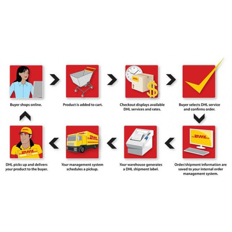 DHL Express Shipping with Print Label