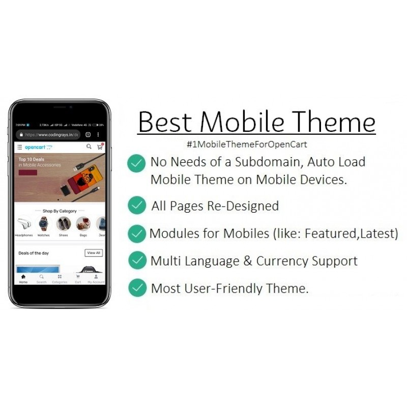 Best Mobile Theme OpenCart Template Lite Version