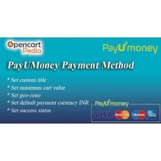 Платіжний Шлюз Opencart PayUMoney