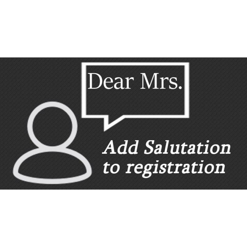 Add Salutation Field