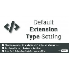 Default Extension Type Setting