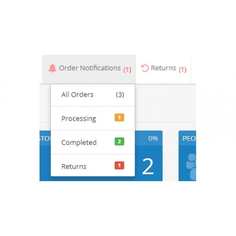 Notifications - OpenCart 3x
