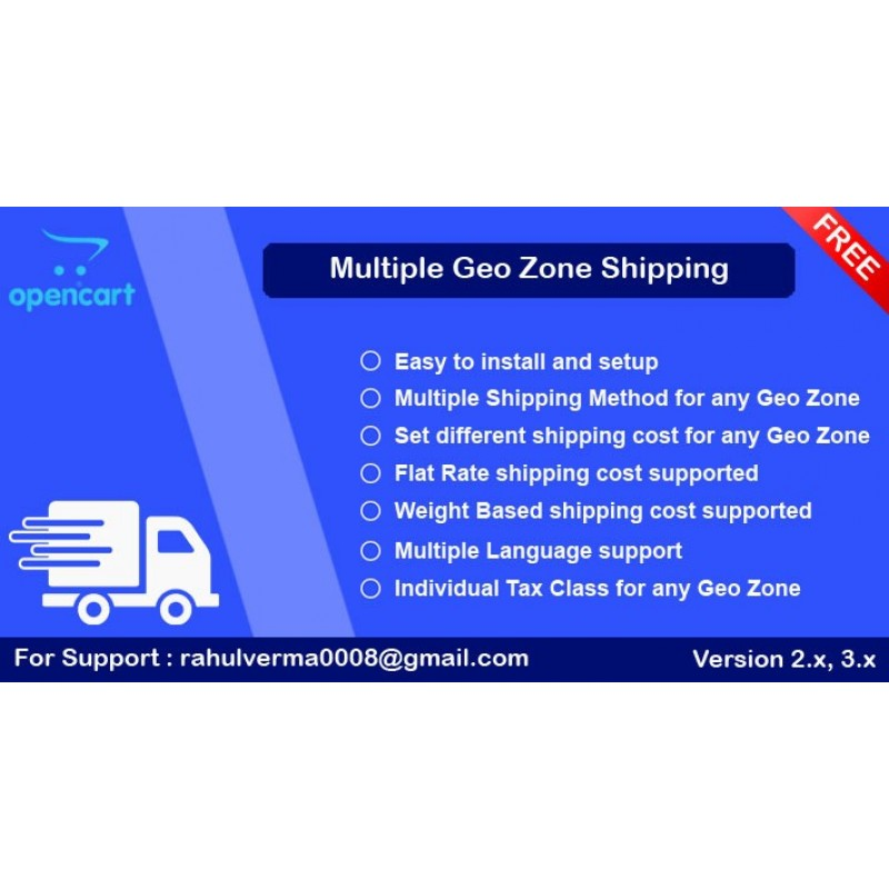 Multiple Geo Zone Shipping