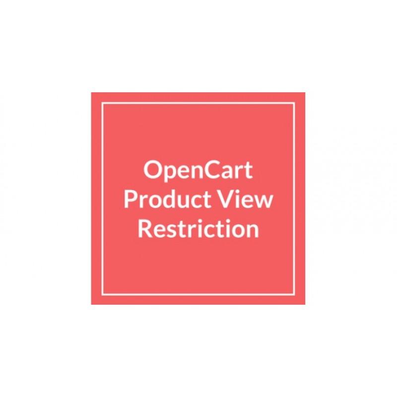 Ограничение на просмотр товара или категории