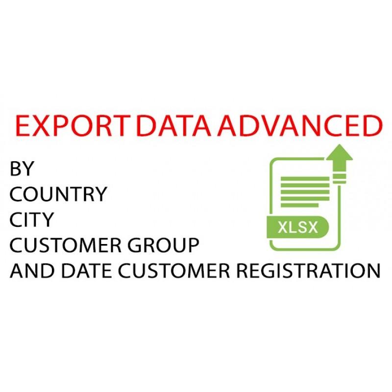 Export data advanced