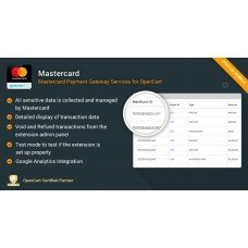 Mastercard - Payment Gateway Services for OpenCart