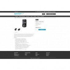 Free Opencart theme with improvements blue or dark color, foto - 2
