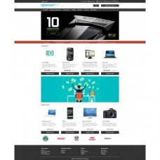 Free Opencart theme with improvements blue or dark color, foto - 3