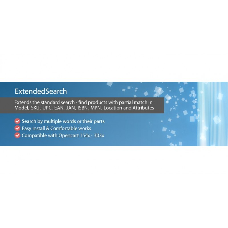ExtendedSearch - extends the standard search functionality